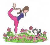 Aurely & Myrtillou Yoga danseuse 001