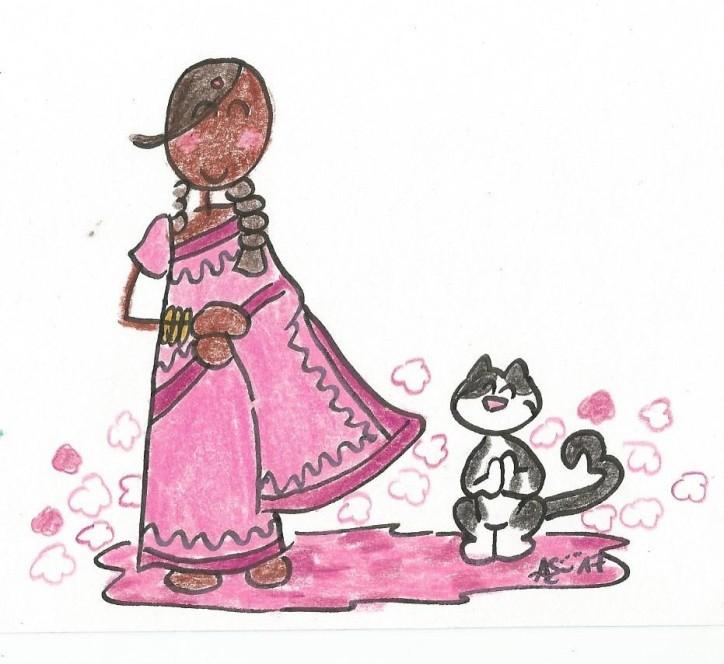 India Sari Myrtillou 001