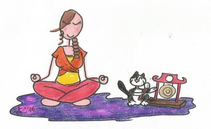 Myrtillou & Aurely Yoga Violett Gong 001