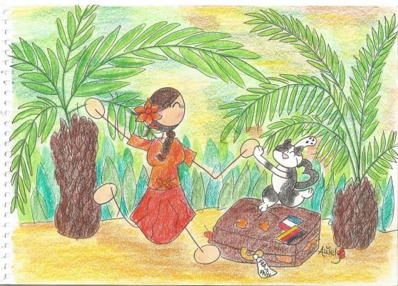 Vacances Palmiers Valise et Check 001