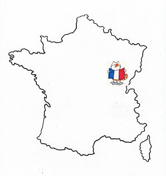 Carte France et Franche Comté