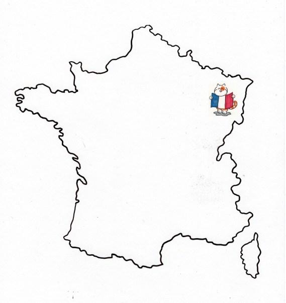 Carte France- Kazh en Alsace
