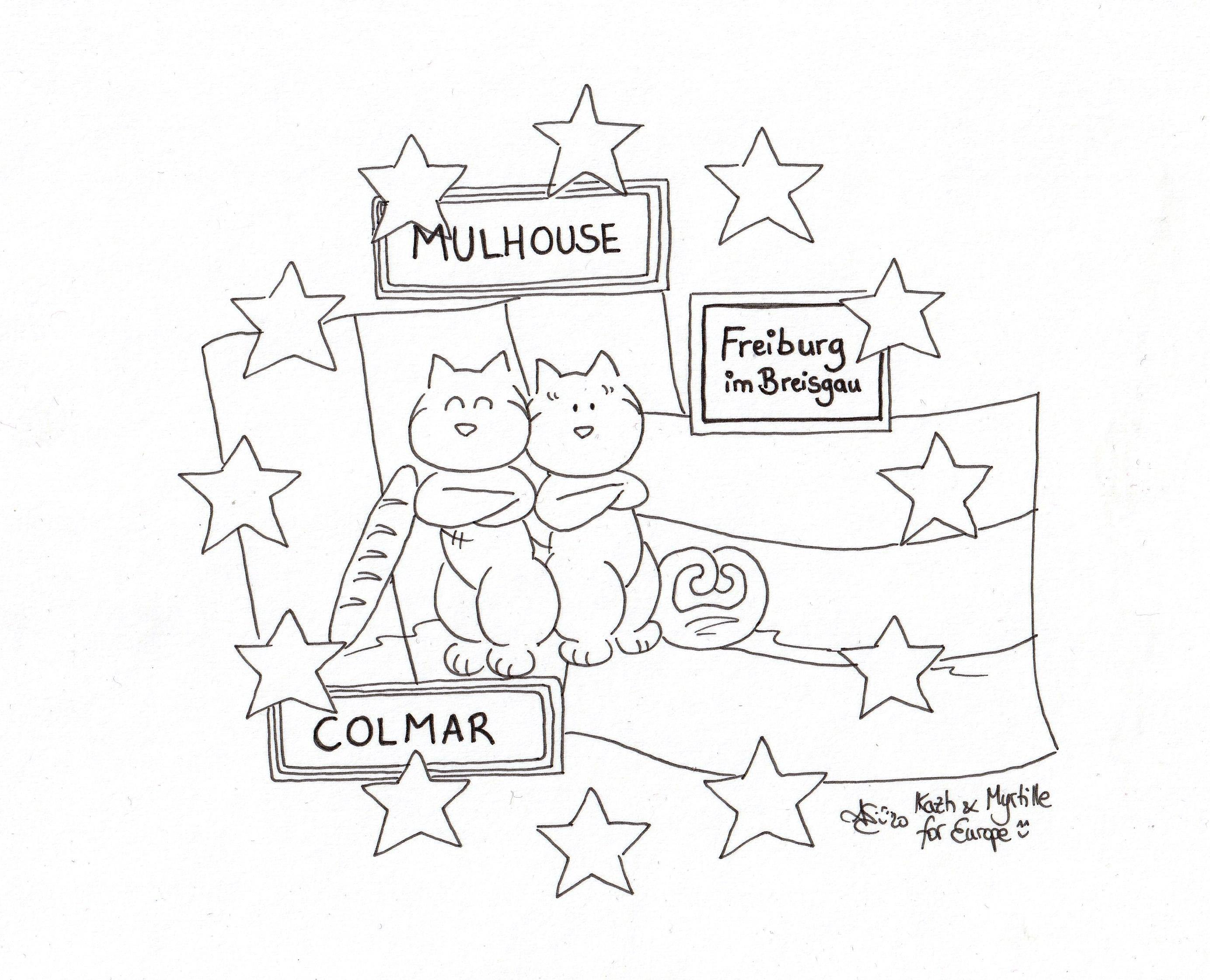 Franco-allemand Colmar-Freiburg-Mulhouse coloriage